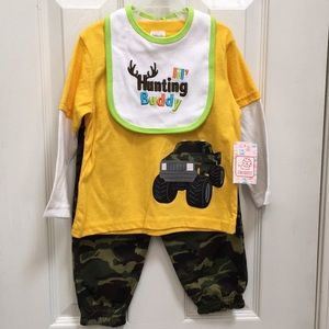 Other - Camo Hunting Buddy Outfit Set